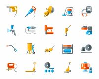 Building tools and supplies, color icons. Stock Image
