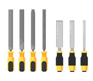 Building tools  on white background Stock Photo