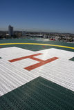 Building Top Helipad. Helicopter Landing Pad On The Rooftop Of A Hospital Royalty Free Stock Image