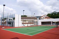 Building Top Tennis Court Stock Photos