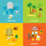 Building tourism concepts flat Stock Photography