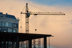 Building tower crane Royalty Free Stock Image