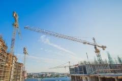 Building tower crane Stock Photos