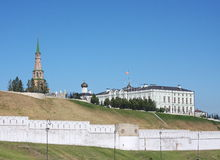 Building is a tower, Kremlin, city Kasan Stock Images