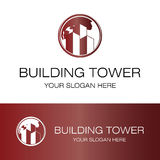 Building tower logo. This is building tower logo icon logo Stock Images