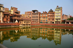 Building and town in Patan City at Nepal Royalty Free Stock Photo