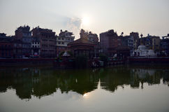 Building and town in Patan City at Nepal Stock Photography