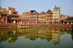 Building and town in Patan City at Nepal Royalty Free Stock Photography