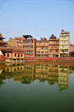 Building and town in Patan City at Nepal Stock Photos