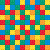 Building toy bricks. Seamless pattern Stock Images