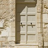Door in historical part of Mdina Royalty Free Stock Image