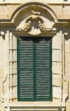 Maltese window in Valletta. Building with traditional maltese window in historical part of Valletta Stock Photo