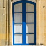 Traditional window on Malta. Building with traditional maltese window in historical part of Valletta Stock Images