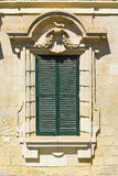 Maltese window in Valletta. Building with traditional maltese window in historical part of Valletta Royalty Free Stock Photos