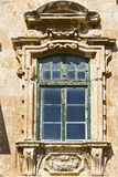 Maltese window in Valletta. Building with traditional maltese window in historical part of Valletta Royalty Free Stock Photography