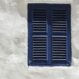 Simple window on Malta. Building with traditional maltese window in historical part of Valletta Stock Photo