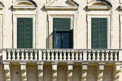Traditional maltese windows Royalty Free Stock Photo