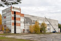 The building for the training of firefighters in Russia. stock photography