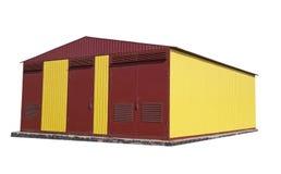 Building transformer substation Royalty Free Stock Image