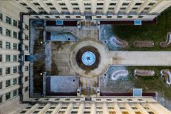 Aerial View of Trenton Building royalty free stock image