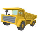 Building truck. Tipper cartoon illustration Royalty Free Stock Photography