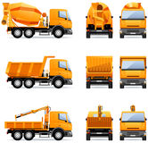 Building trucks Stock Photo