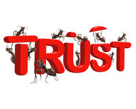 Building trust be confident in quality honesty stock illustration