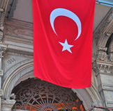 Building with a turkish flag Stock Photo