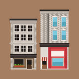 Building twon store facade vintage Royalty Free Stock Photography