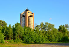 Building of the Ukrainian Television Center in Kiev Royalty Free Stock Photography