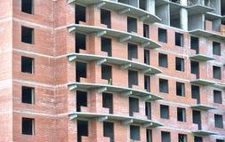 Building under construction. With empty wondows Stock Photo