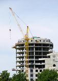 Building  under construction. The building  under construction Stock Photography