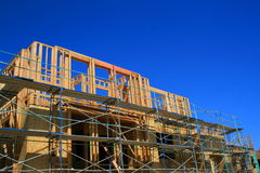 Building Under Construction. Close up of a building under construction Royalty Free Stock Images