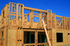 Building Under Construction. Close up of a building under construction Stock Image