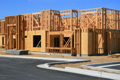 Building Under Construction. Close up of a building under construction Royalty Free Stock Photos