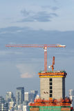 Building under construction in Bangkok city,Thailand Royalty Free Stock Photography
