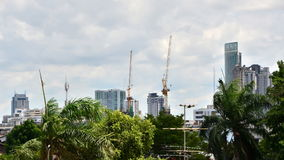 Building Under Construction in Bangkok, Thailand stock video