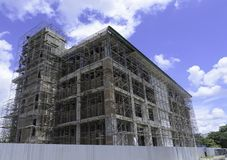 Building under construction. With blue sky Stock Photo