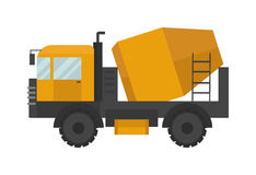 Building under construction cement mixer machine technics vector illustration Stock Images