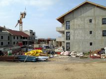 Building under construction and construction site. In Savoy, France Stock Photos
