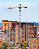 Building under construction with crane Royalty Free Stock Photo