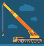 Building under construction crane machine technics Royalty Free Stock Image