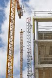 Building under construction. Crane machinery structure. Industry Royalty Free Stock Image