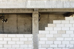 Building under construction detail wall Stock Photo