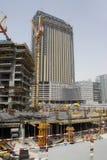 Building under construction in Dubai stock photo