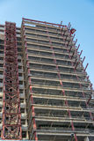 Building under construction. Building in Genoa, close to the port Royalty Free Stock Image