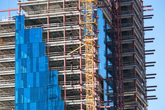 Building under construction. Building in Genoa, close to the port Royalty Free Stock Photography