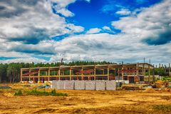 Building under construction with hdr effect Royalty Free Stock Images