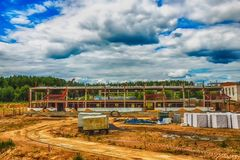 Building under construction with hdr effect Stock Photos