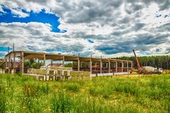 Building under construction with hdr effect Royalty Free Stock Image